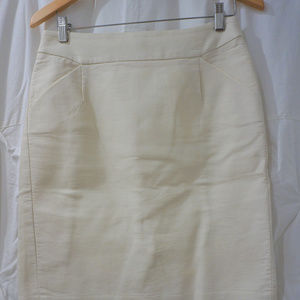 JCrew - White Pencil Skirt